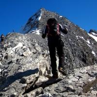 Gehtechnik Bergauf mit Stöcken