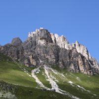 Im Abstieg zur Pinnisalm (Rückblick auf die Tour)