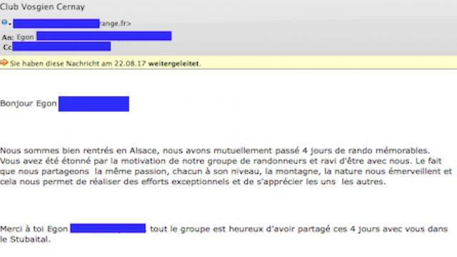 Feedback einer Gruppe aus Frankreich (Elsass)