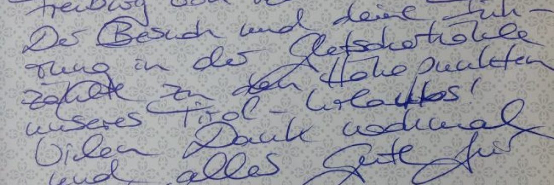 "Lob … das ""Brot"" des Bergwanderführers :-)"